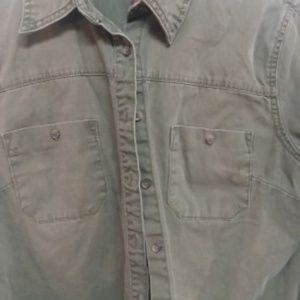 Merona Women's Army Green button down size M